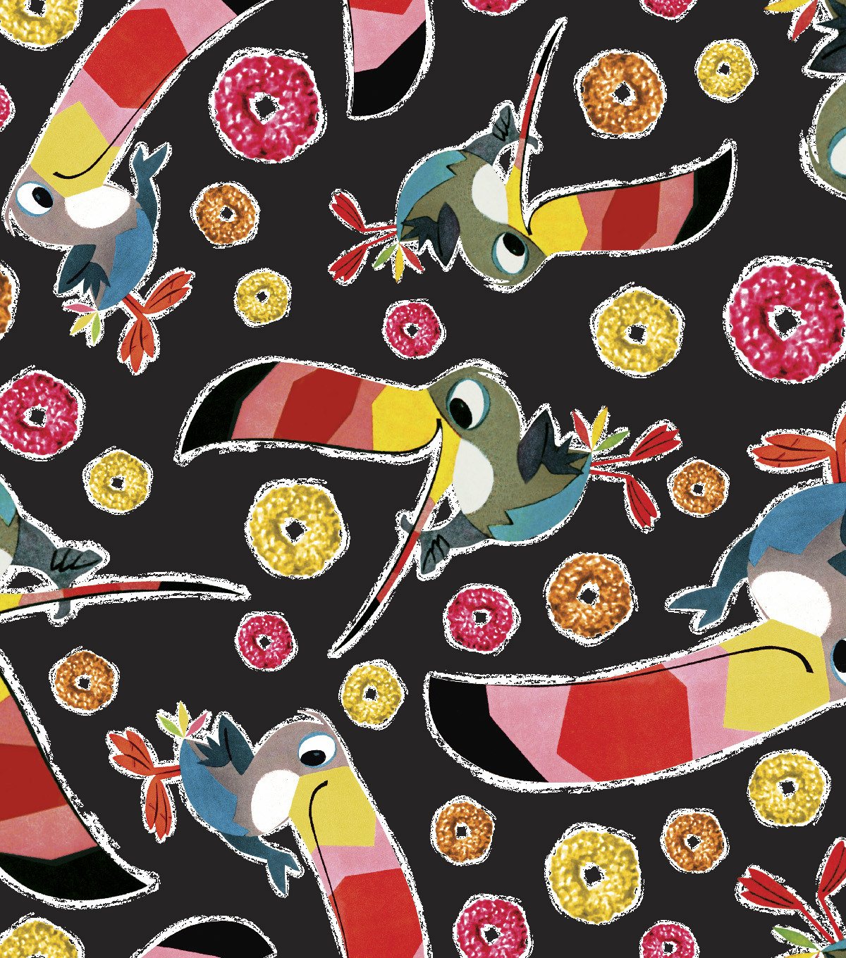 Kelloggs® Fleece Fabric 59\u0022-Toucan Sam Toss