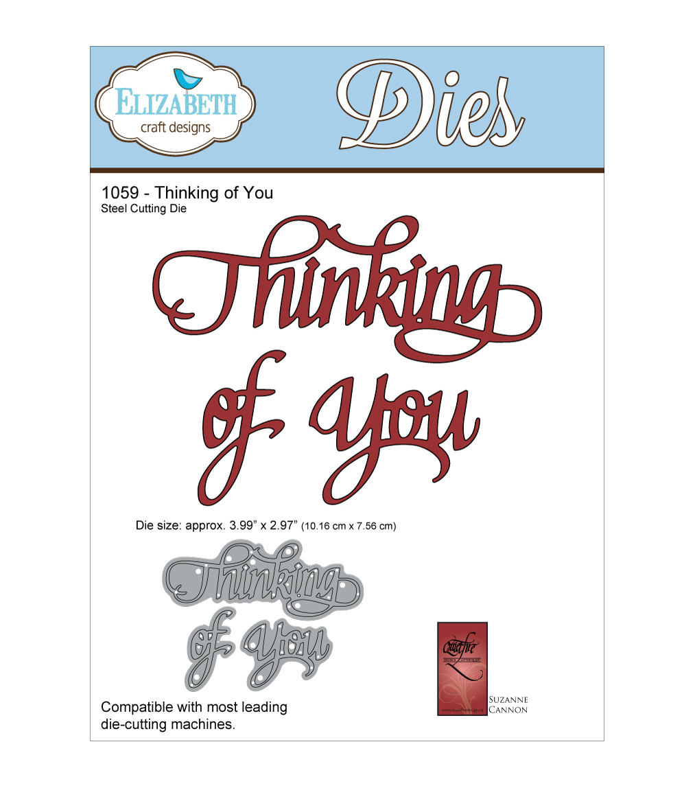 Elizabeth Craft Designs Quietfire Wafer Thin Metal Die-Thinking Of You