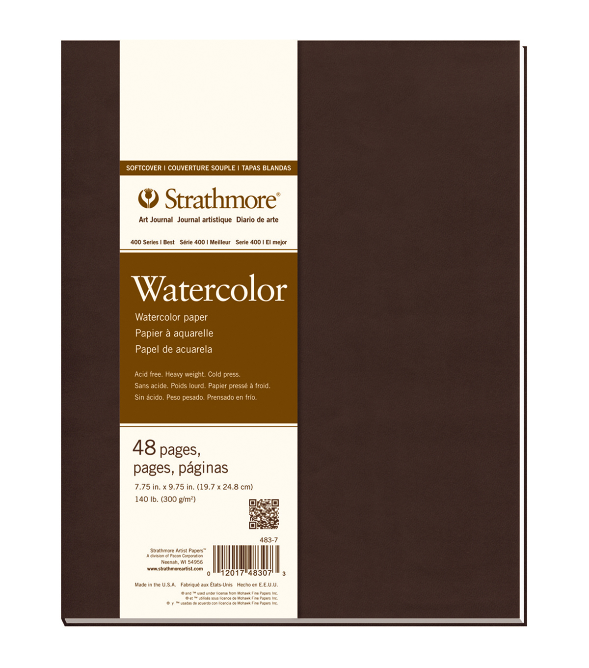Strathmore Soft Cover Watercolor Journal Book With 48 Pages 7.75\u0027\u0027x9.75\u0027\u0027
