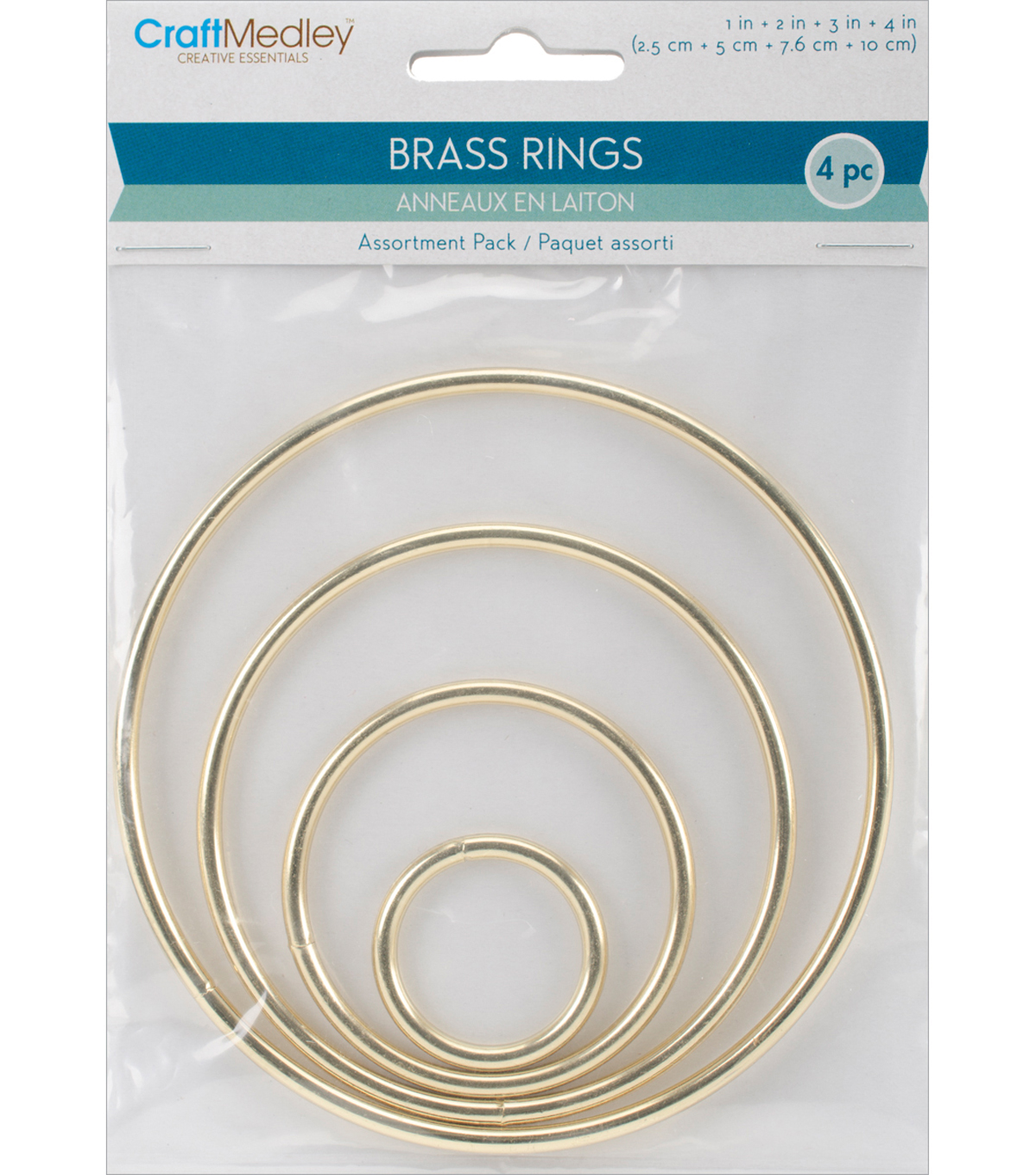Asst Sizes-brass Ring Pack Asst