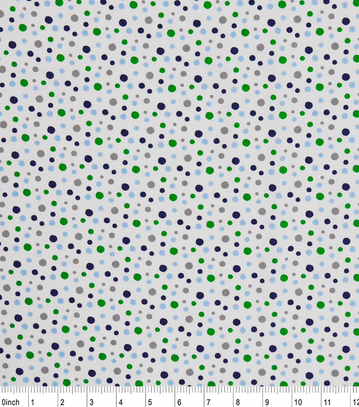 "Nursery Cotton Fabric 43""-Multi Dots"