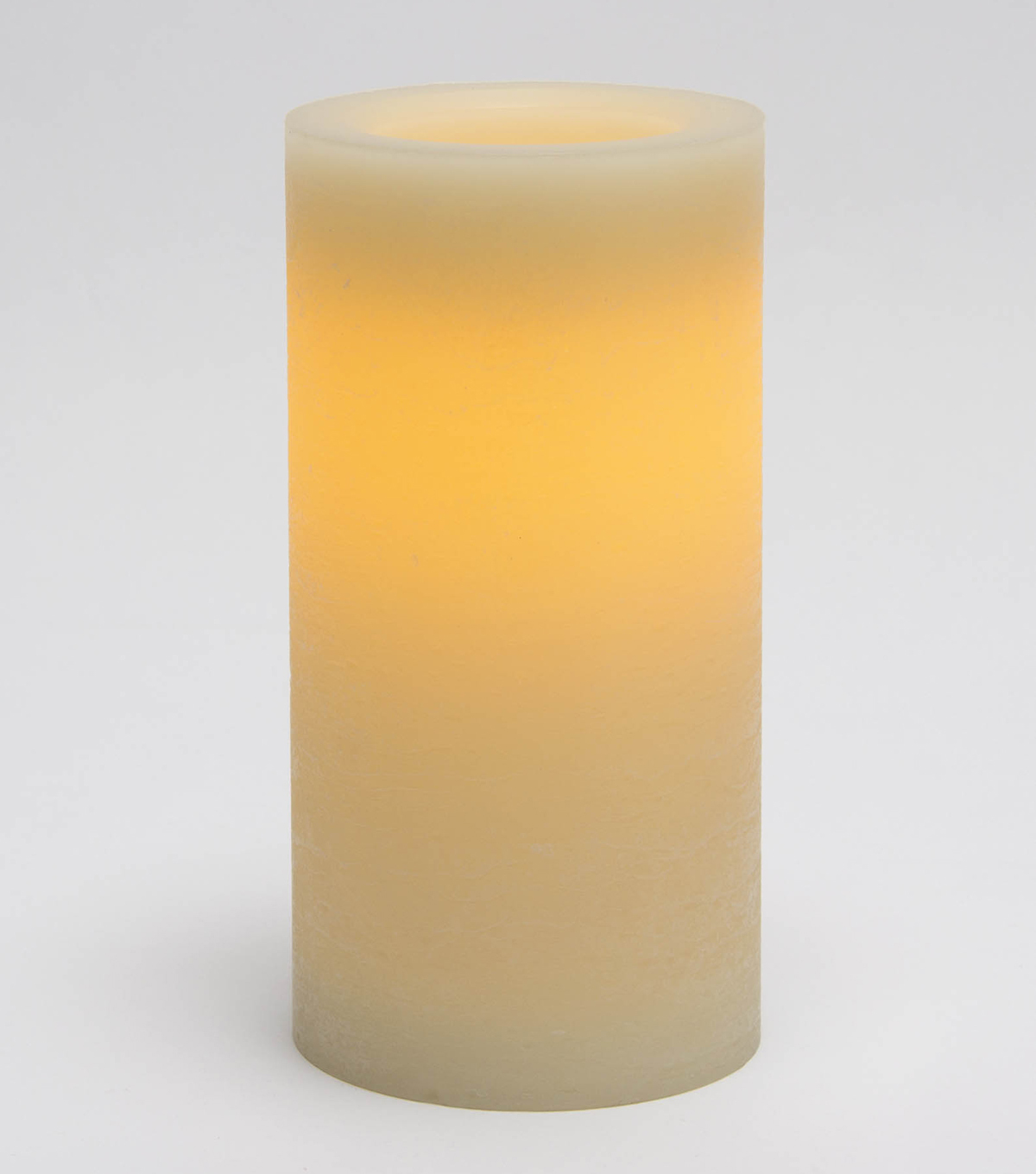 Hudson 43™ 4\u0027\u0027x8\u0027\u0027 Pillar Candle-Cream with Rustic Finish