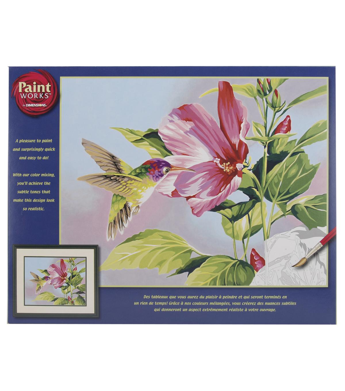 dimensions 14 u0027 u0027x11 u0027 u0027 paint by number hibiscus hummingbird joann