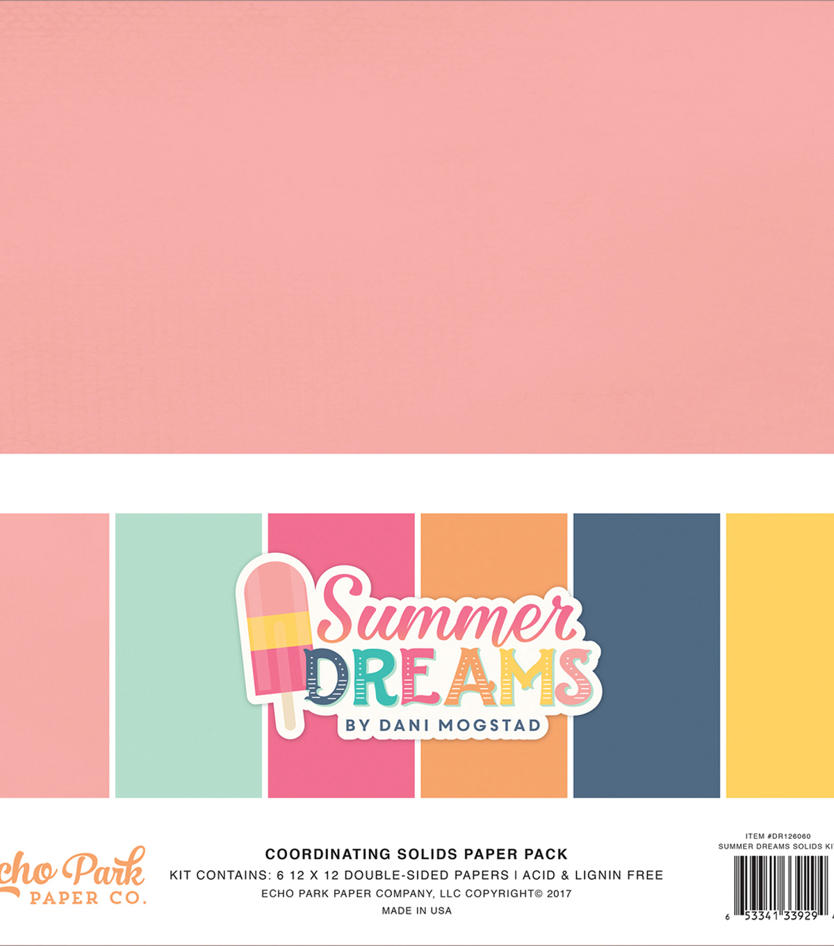 Double-Sided Solid Cardstock 12\u0022X12\u0022-Summer Dreams 6 Colors