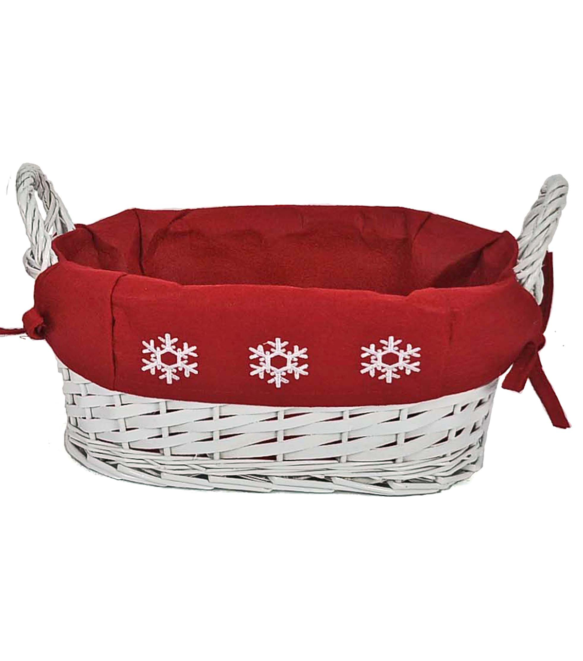 Maker's Holiday Small Snowflake Basket with Red Liner