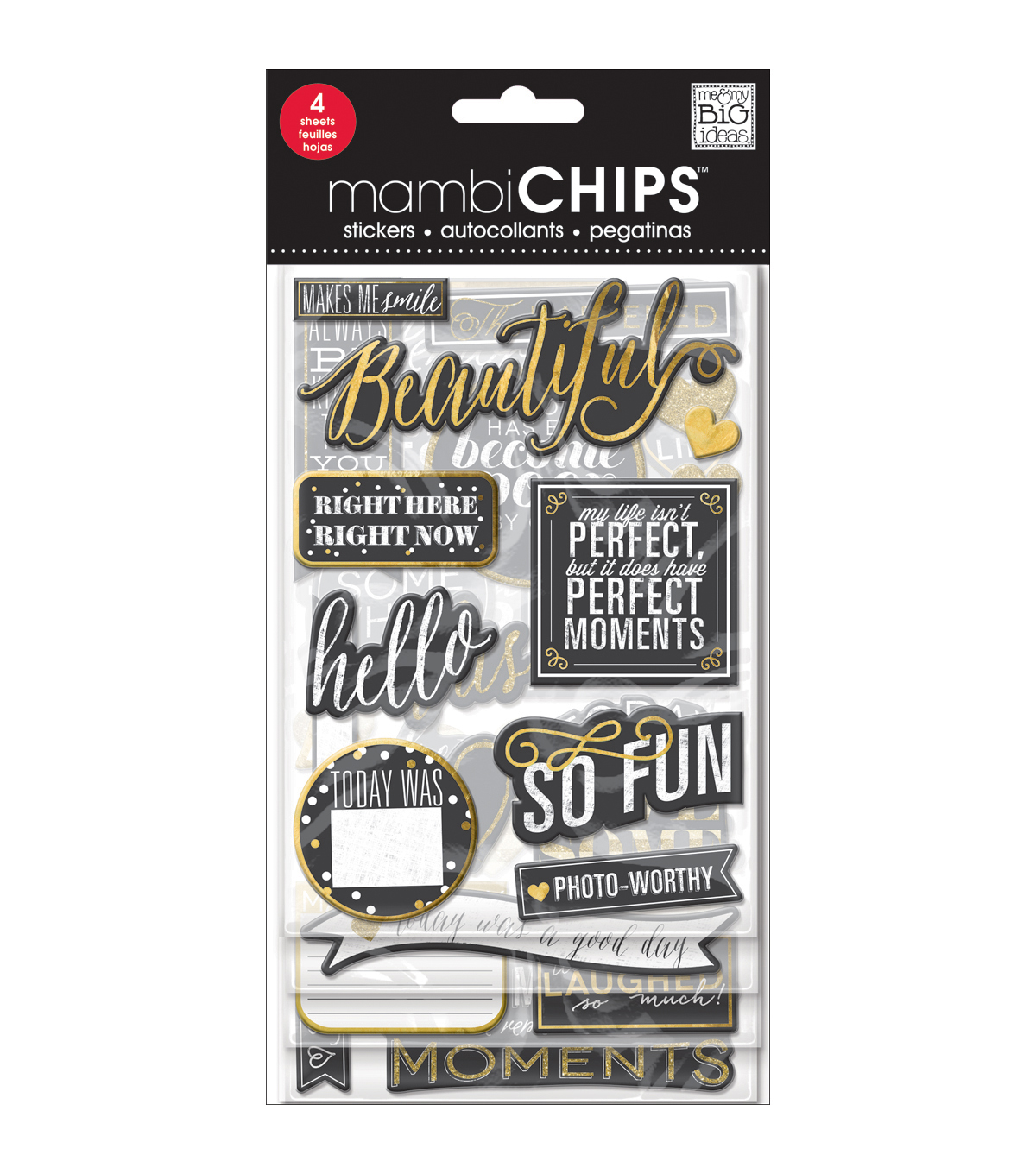 Me & My Big Ideas® Chipboard Stickers-Chalk-Makes Me Smile