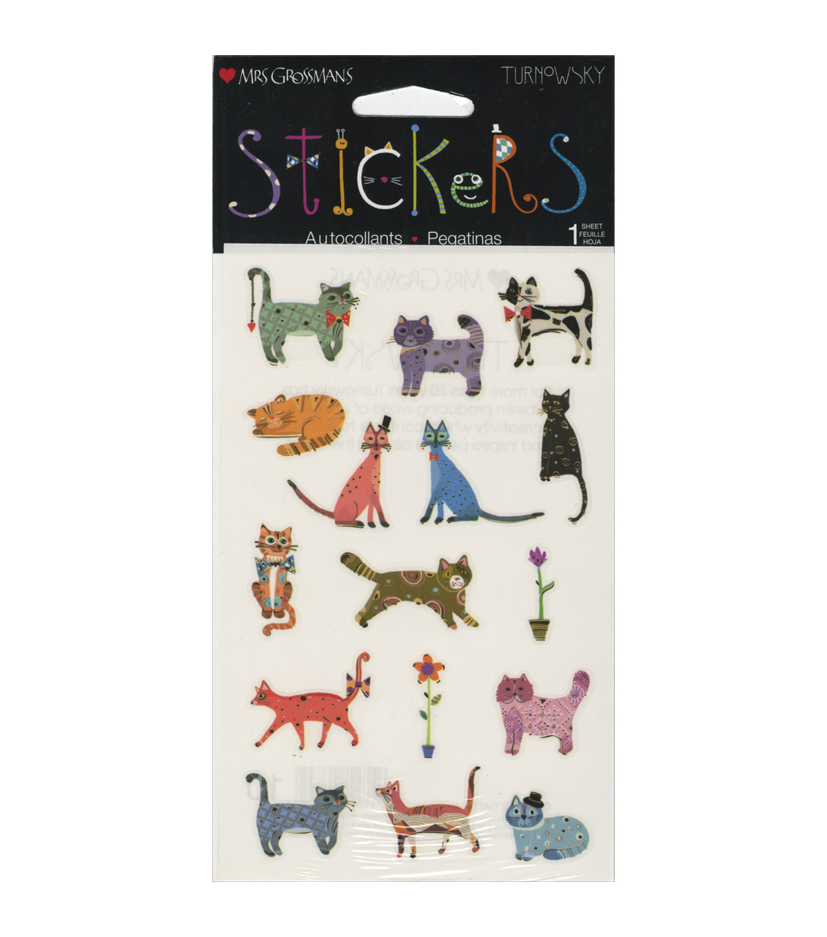 Mrs. Grossman\u0027s Curious Cats Stickers