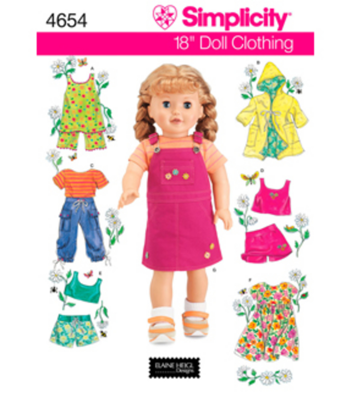 Simplicity pattern 4654 18 doll clothes one size joann simplicity pattern 4654os one size simplicity crafts jeuxipadfo Images
