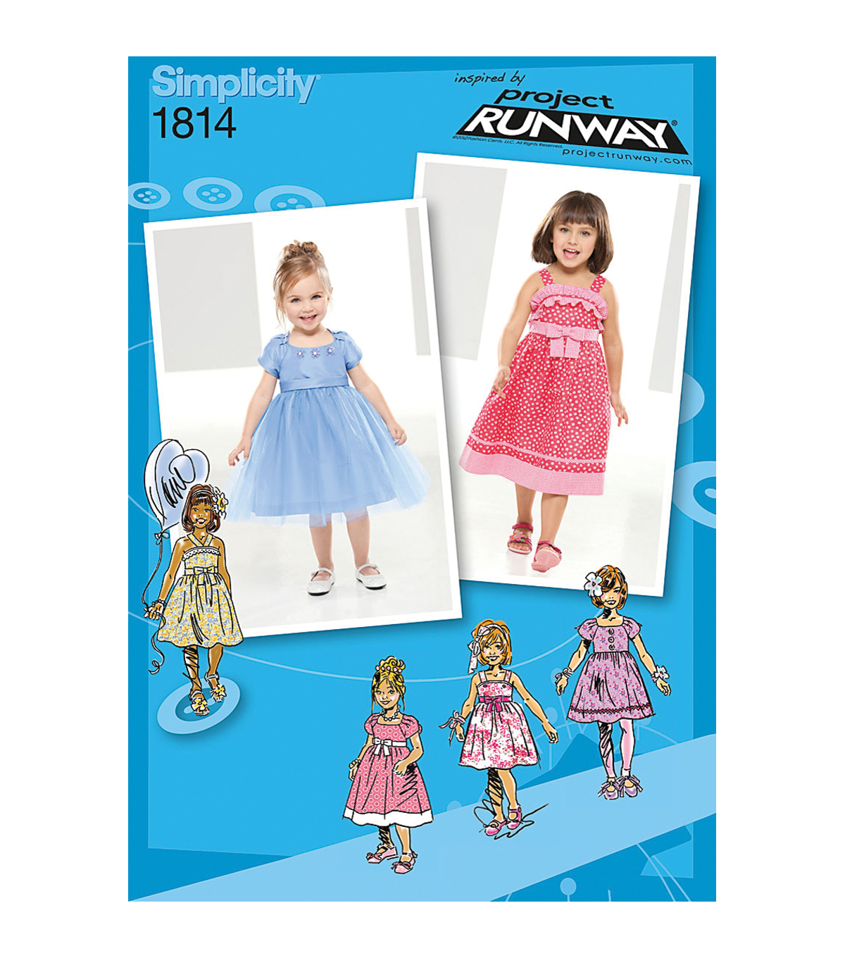 Simplicity Patterns Us1814Bb-Simplicity Toddlers Dresses-4-5-6-7-8