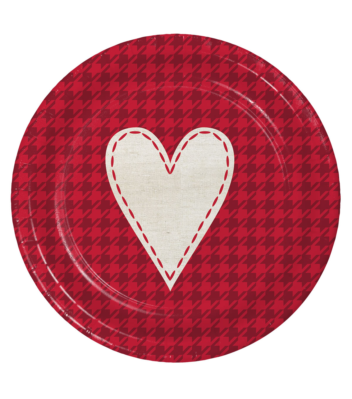Valentine's Day Pack of 8 7'' Paper Lunch Plates