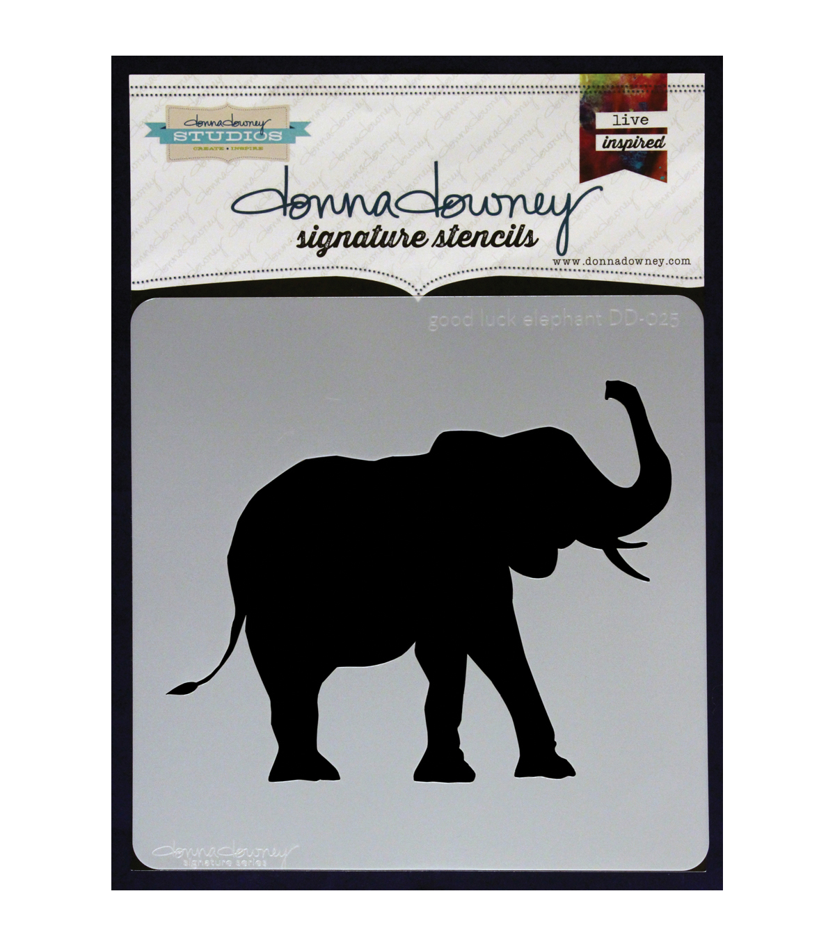 Donna Downey Signature Good Luck Elephant Stencils