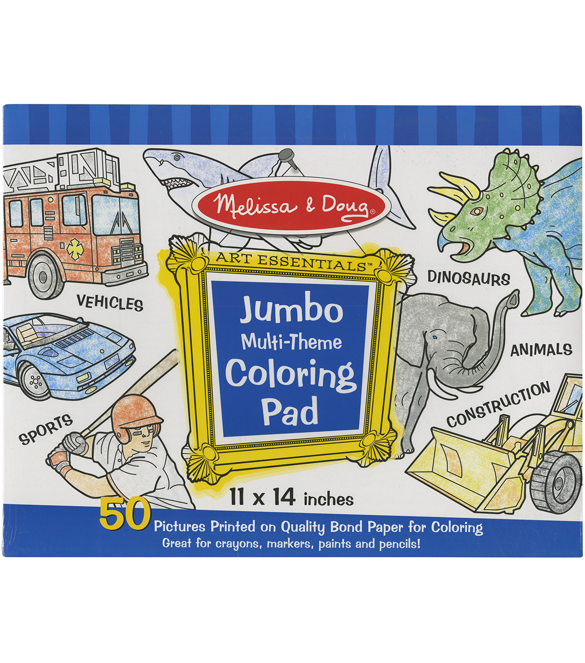 Blue -jumbo Coloring Pad