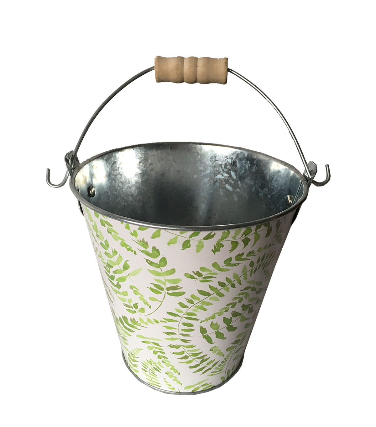 Wild Blooms Metal Bucket-Fern Print