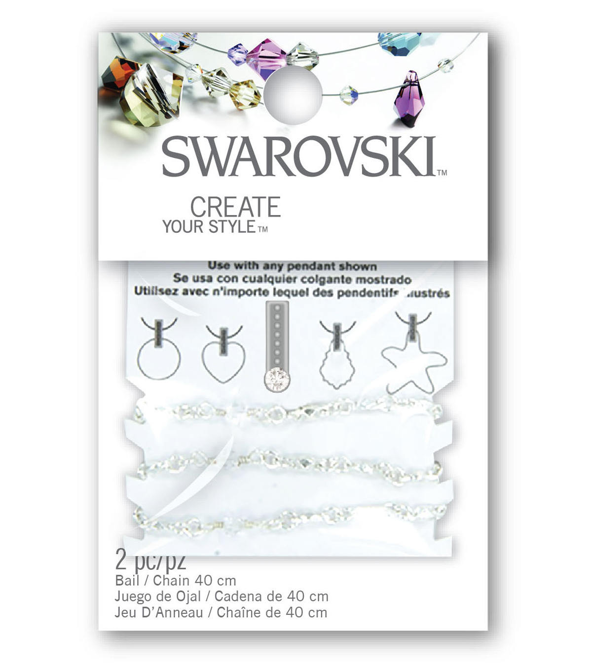 Jolee\u0027s Jewels Celebration Swarovski 2Pk-Bail Set/Eternal Crystals & Pearls-Ivory