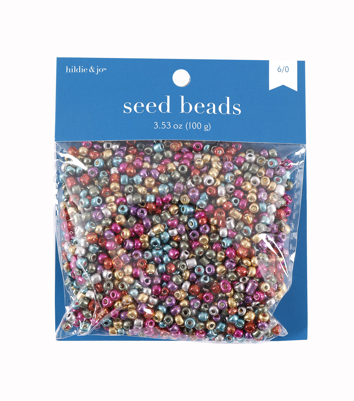 Glass Seed E Beads-Metallic Color Mix