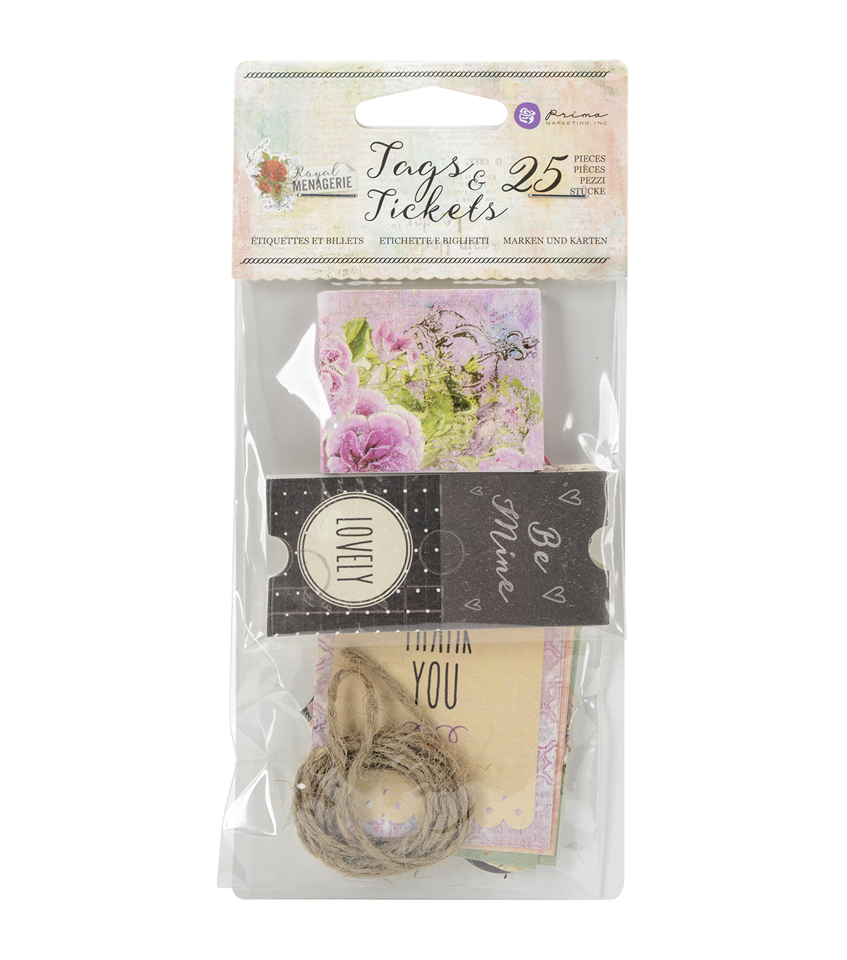 Prima Marketing Royal Menagerie 25ct Tags & Tickets