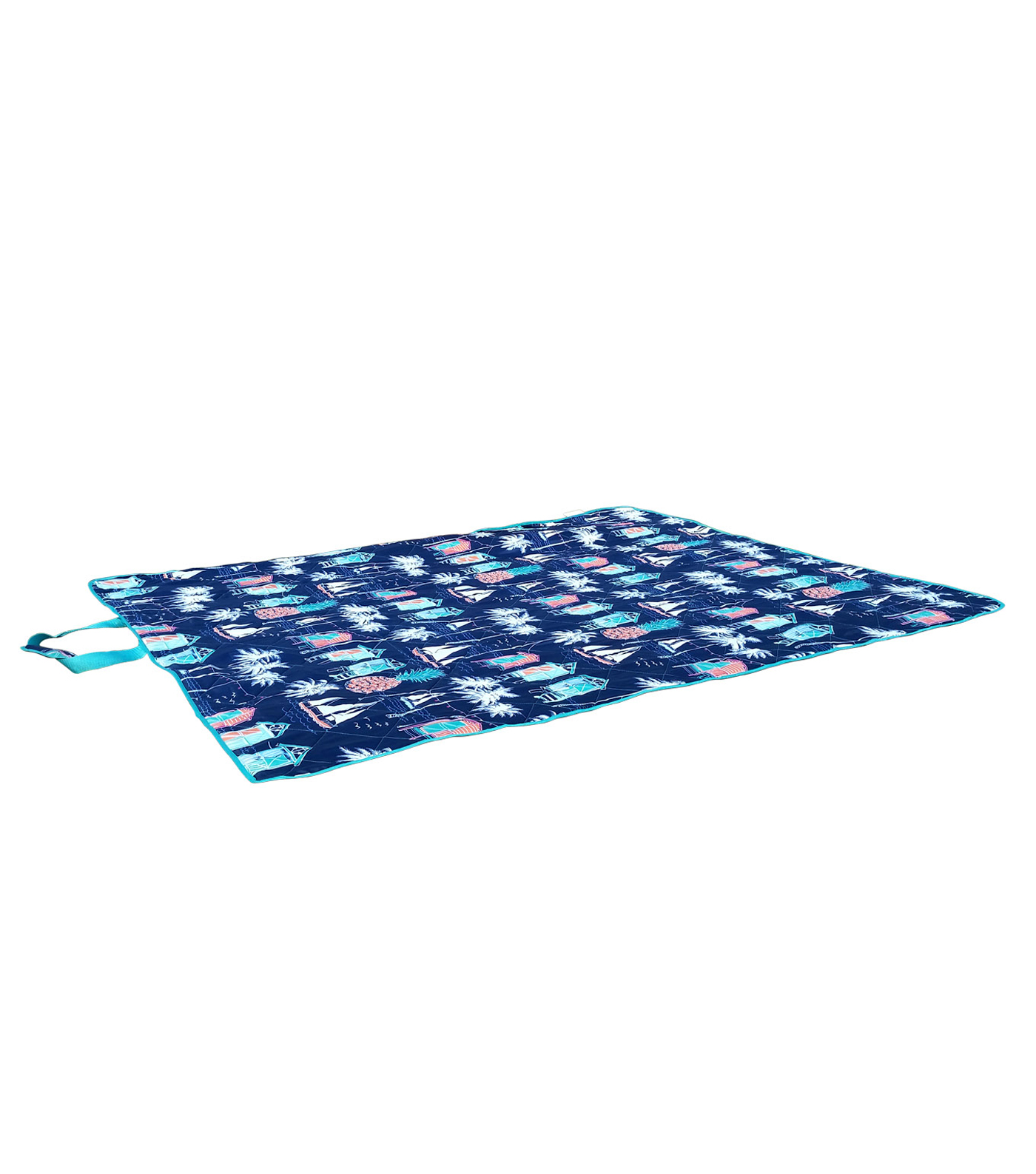 Summer Sol Picnic Blanket-Beach Hut Print