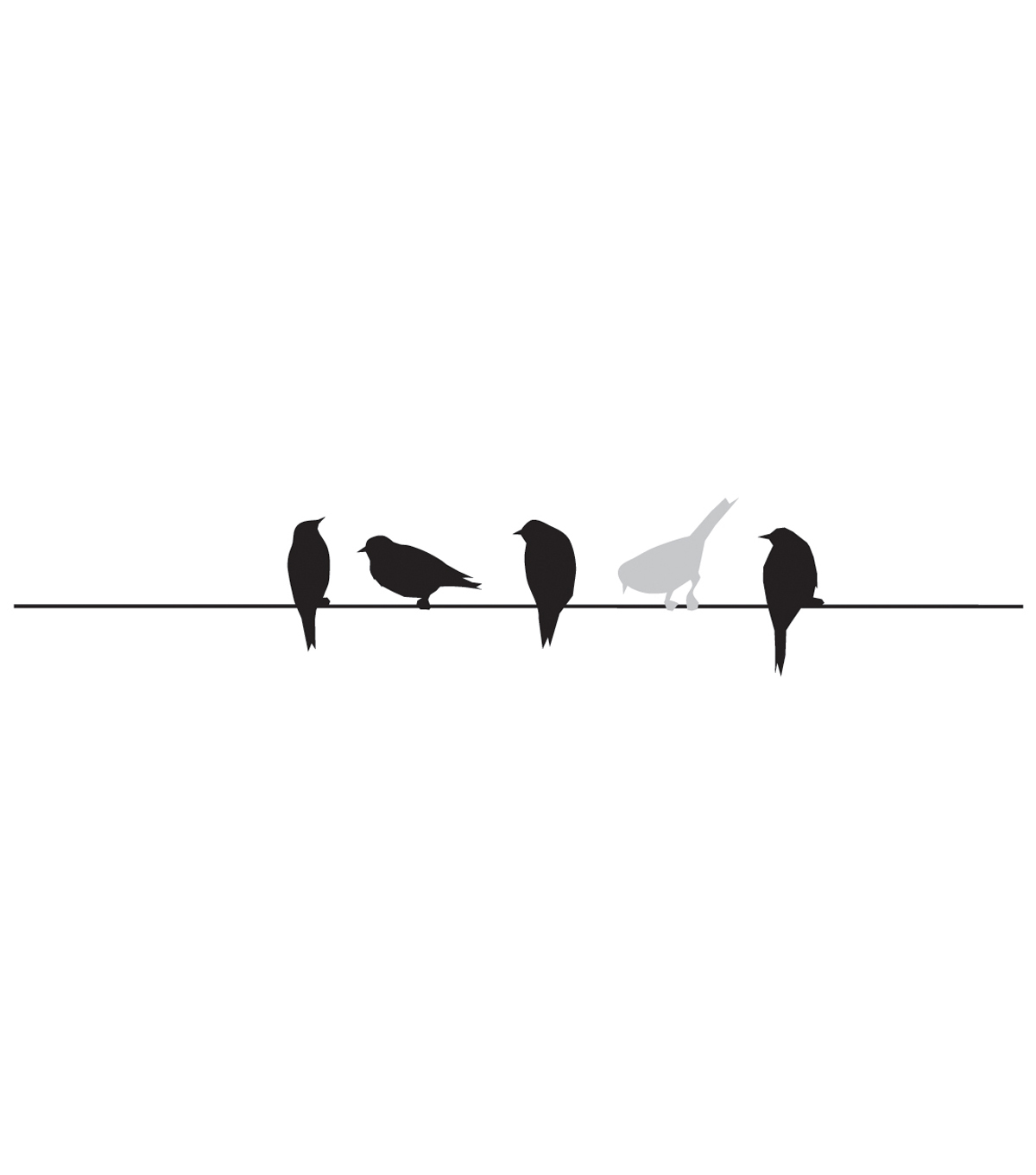 Penny Black Rubber Stamp 1\u0022X4-Birds On Wire