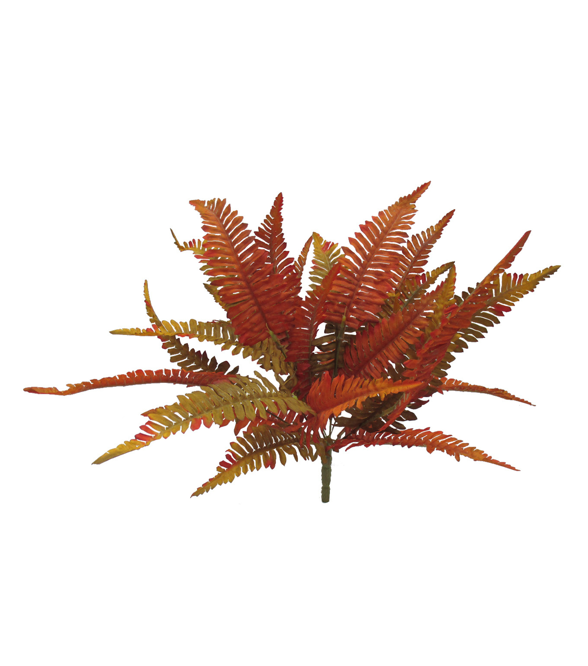 Blooming Autumn 19'' Fern Bush-Red & Green
