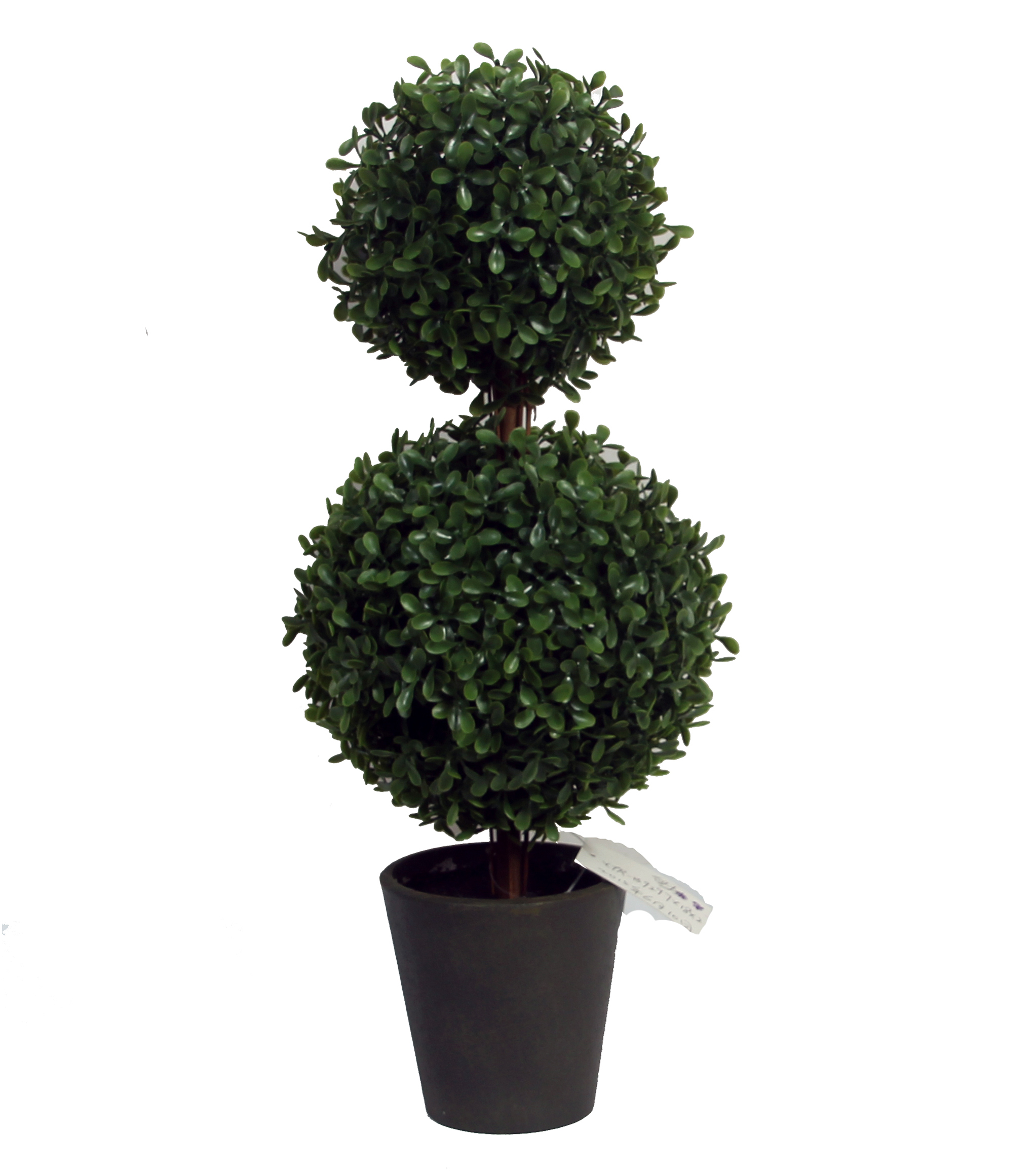 Bloom Room Soft Touch Boxwood Double Ball Topiary-Green