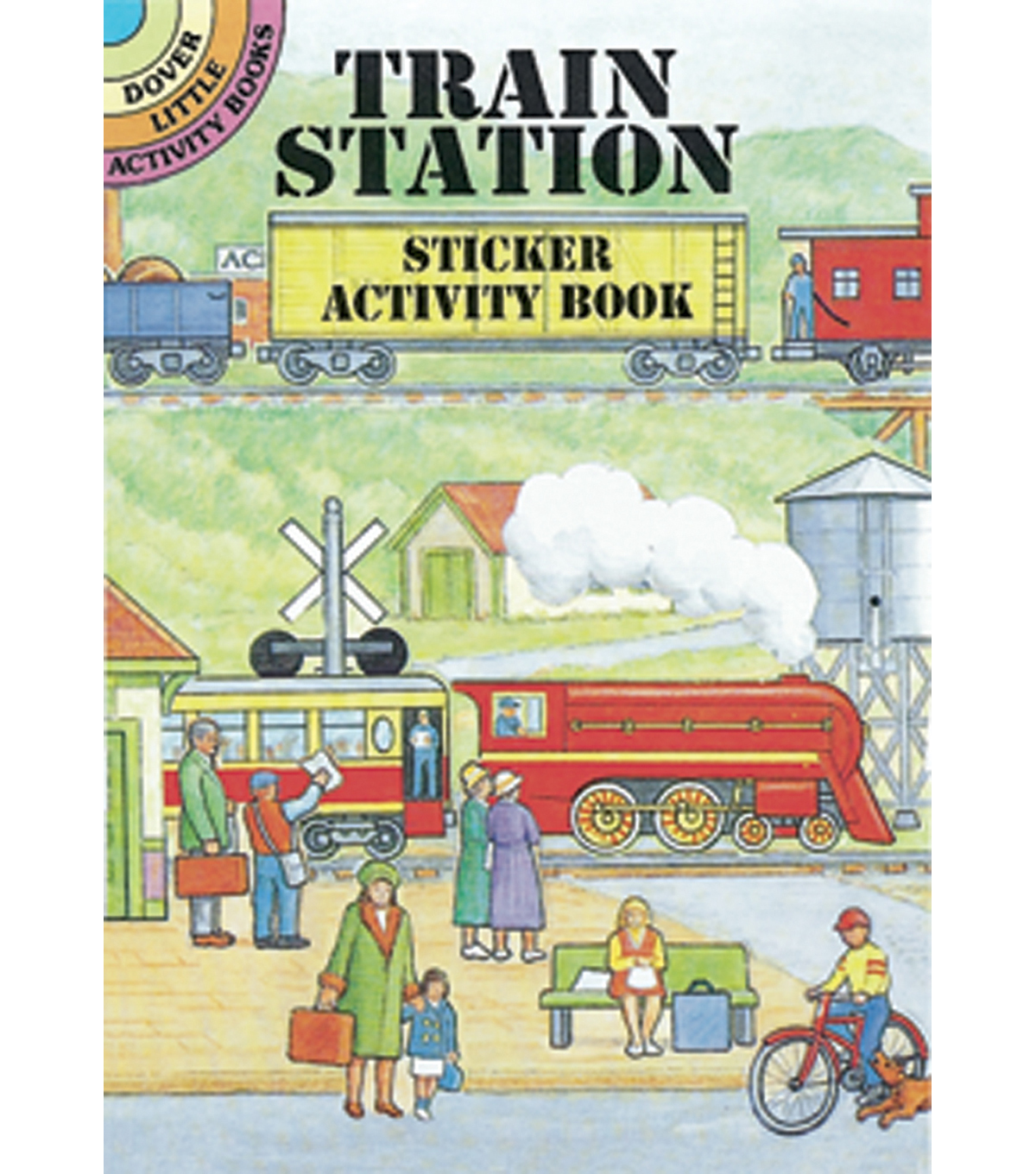 Dover Publications-Train Station Sticker Activity Book