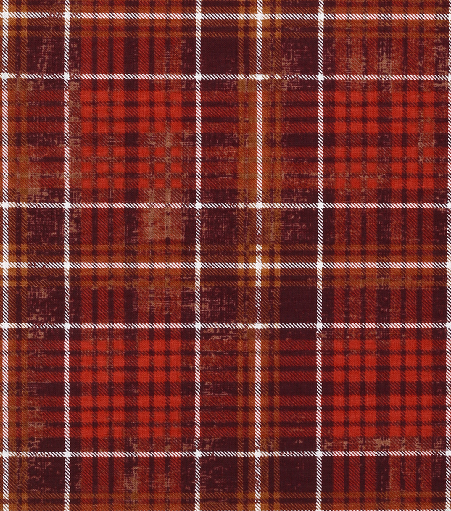 Harvest Cotton Fabric 43\u0022-Harvest Plaid Brown