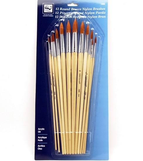 Loew-Cornell Round Nylon Brushes