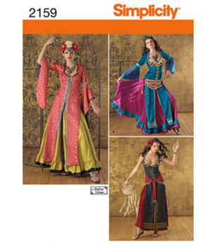 Simplicity Pattern 2159-Misses' Belly Dancer Costumes