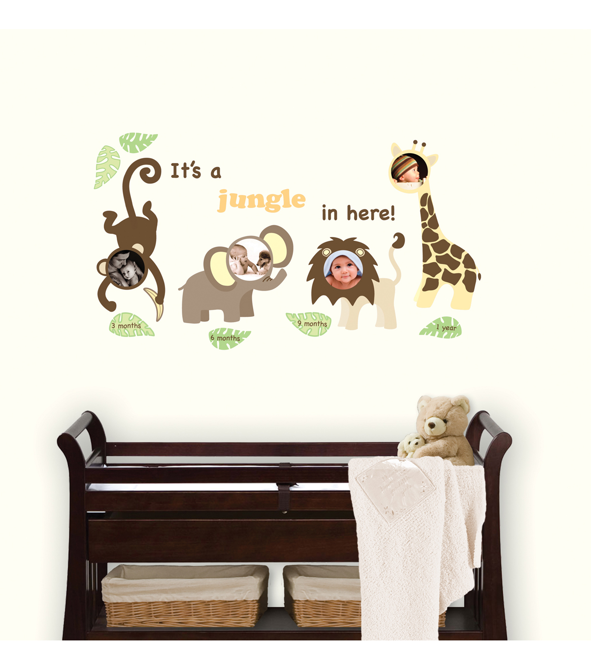 Wall Pops Jungle Wall Frame Decal Kit, 4 Frame Set