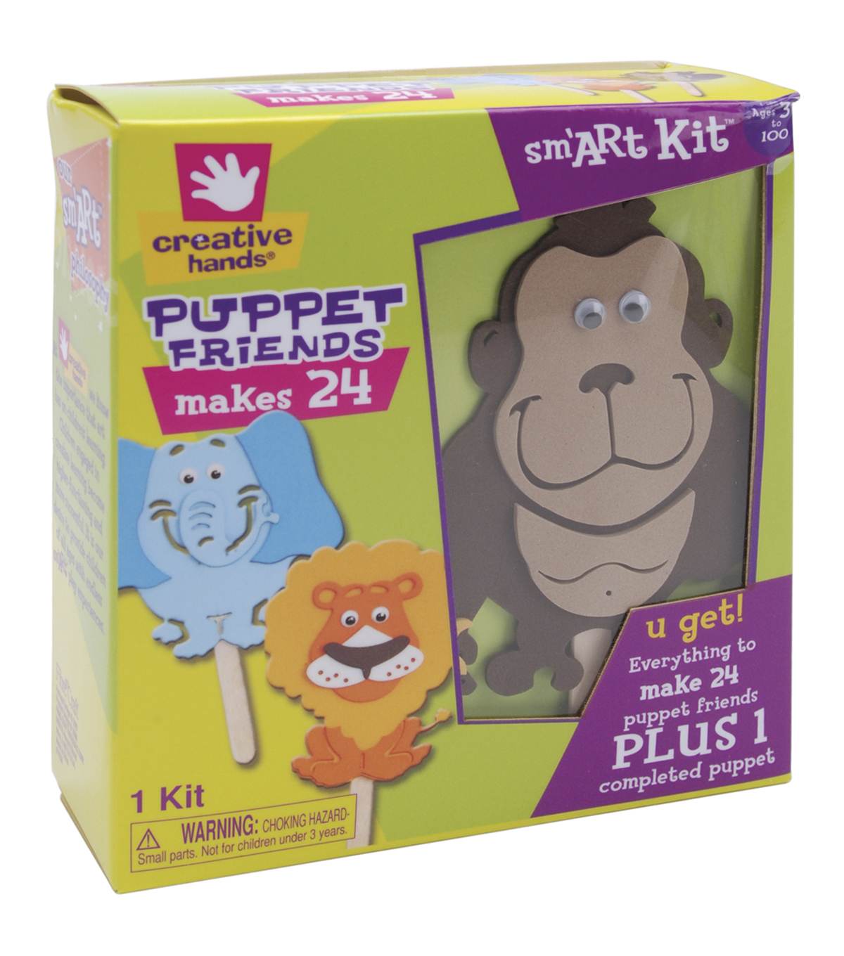 Fibre Craft Foam Kit-Puppet Friends