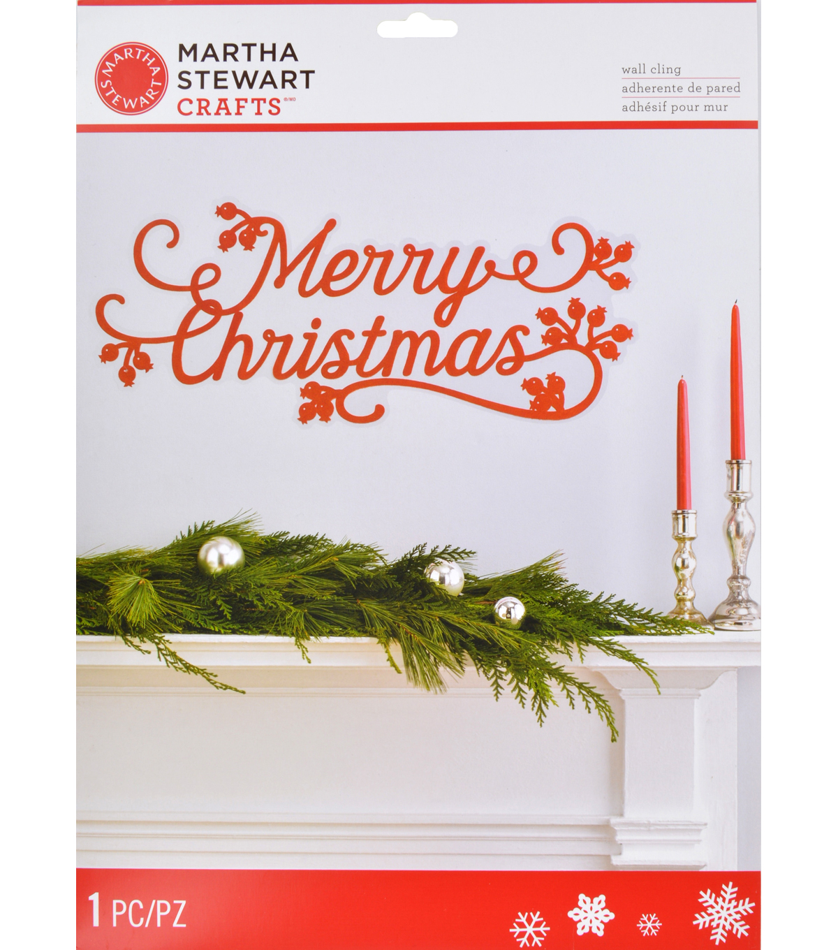 Martha Stewart Crafts Holiday Lodge Merry Christmas Wall Cling