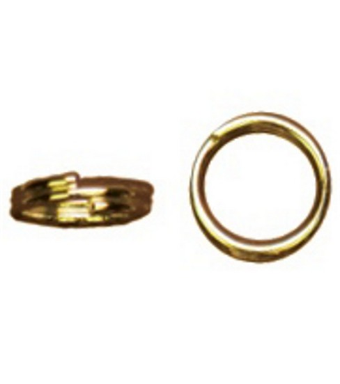 Cousin 6mm Gold Elegance Split Jump Ring-12PK/14K Gold Plated