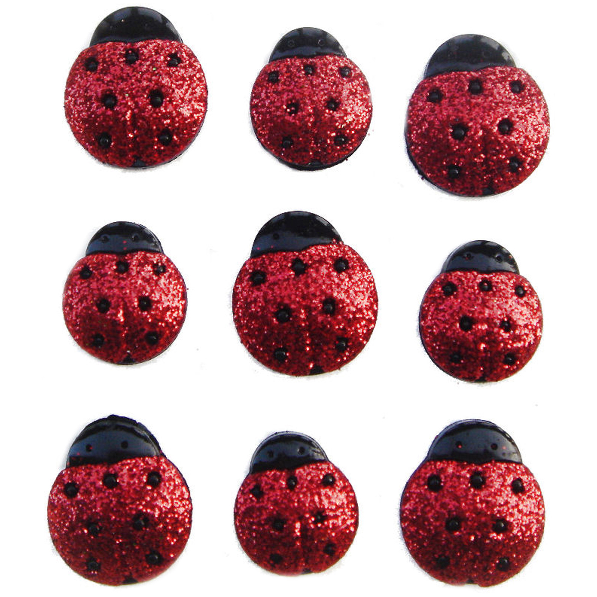 Jesse James Dress It Up Embellishments Glitter Ladybugs