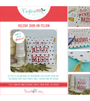 Hazel & Ruby Holiday Crafternoon  Iron-On Pillow
