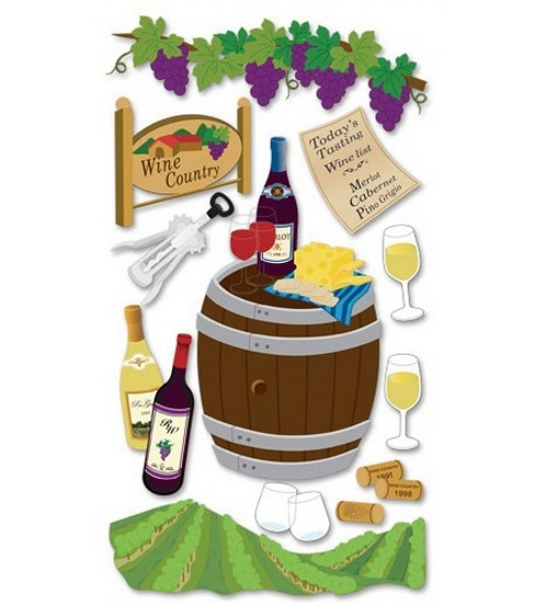 Jolee\u0027s Boutique Le Grande Dimensional Stickers-Wine Country