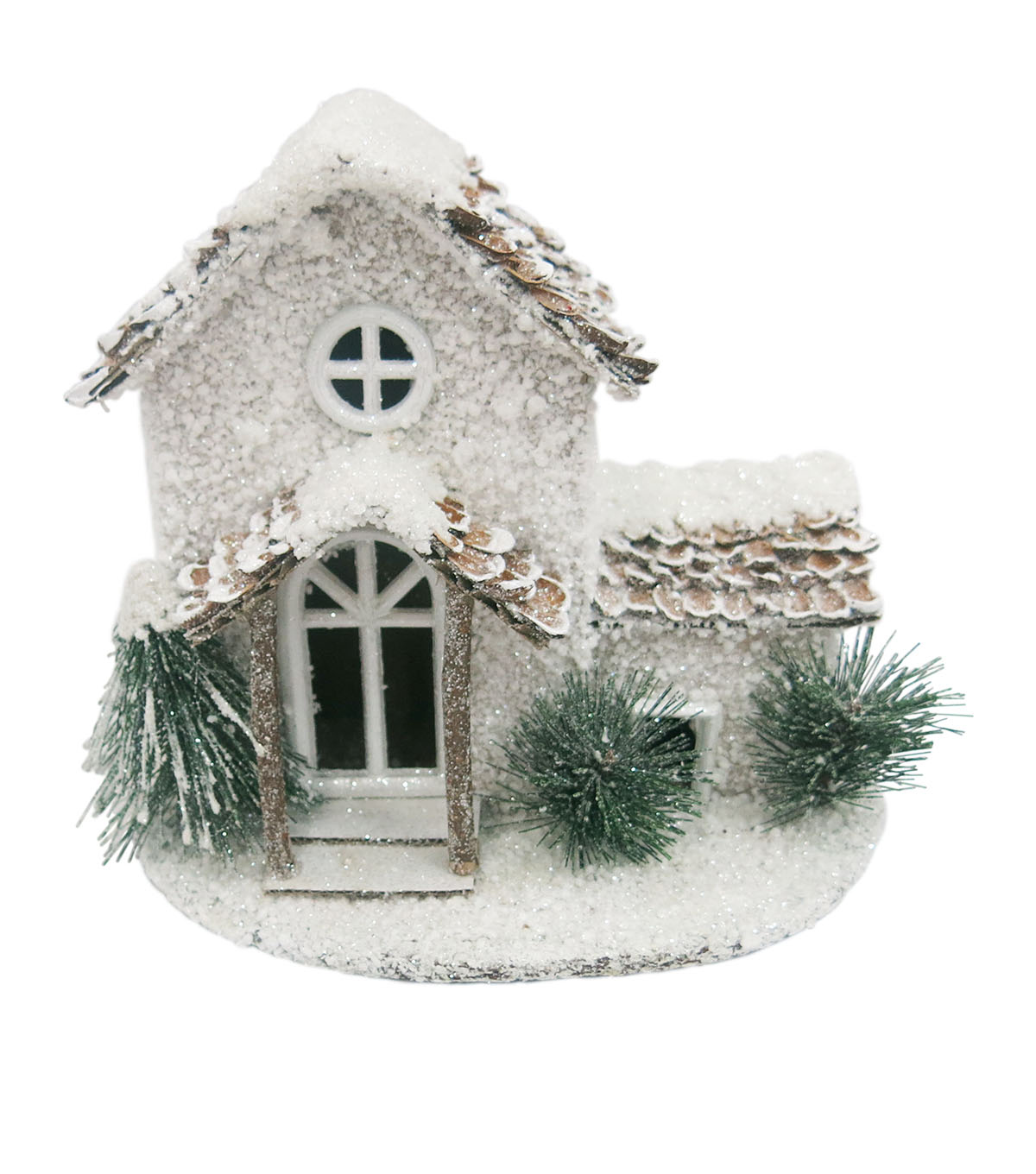 Maker\u0027s Holiday Snowy House-White