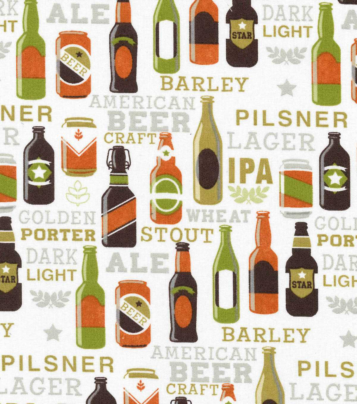 Novelty Cotton Fabric-Beer