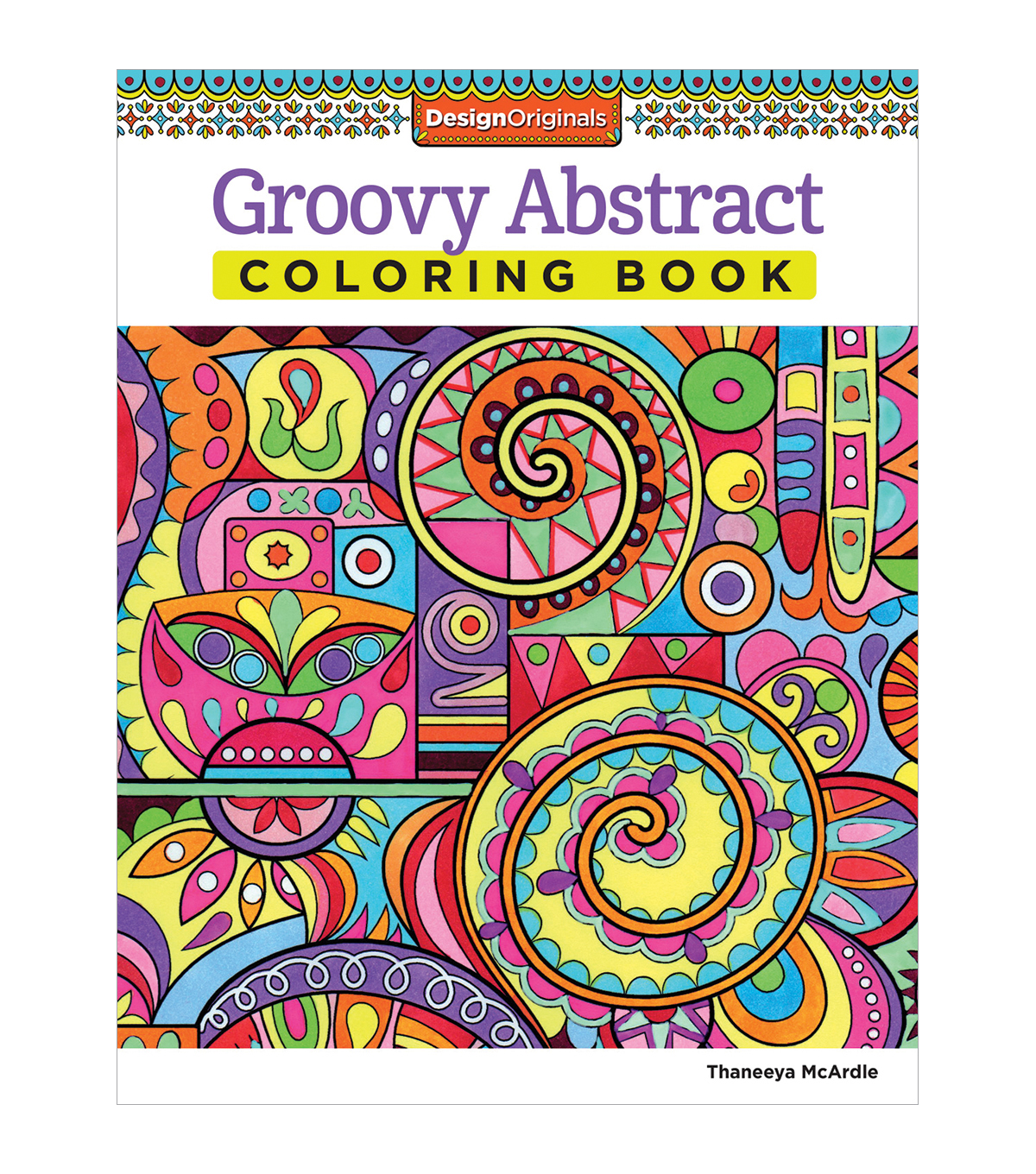 Adult Coloring Book Design Originals Groovy Abstract
