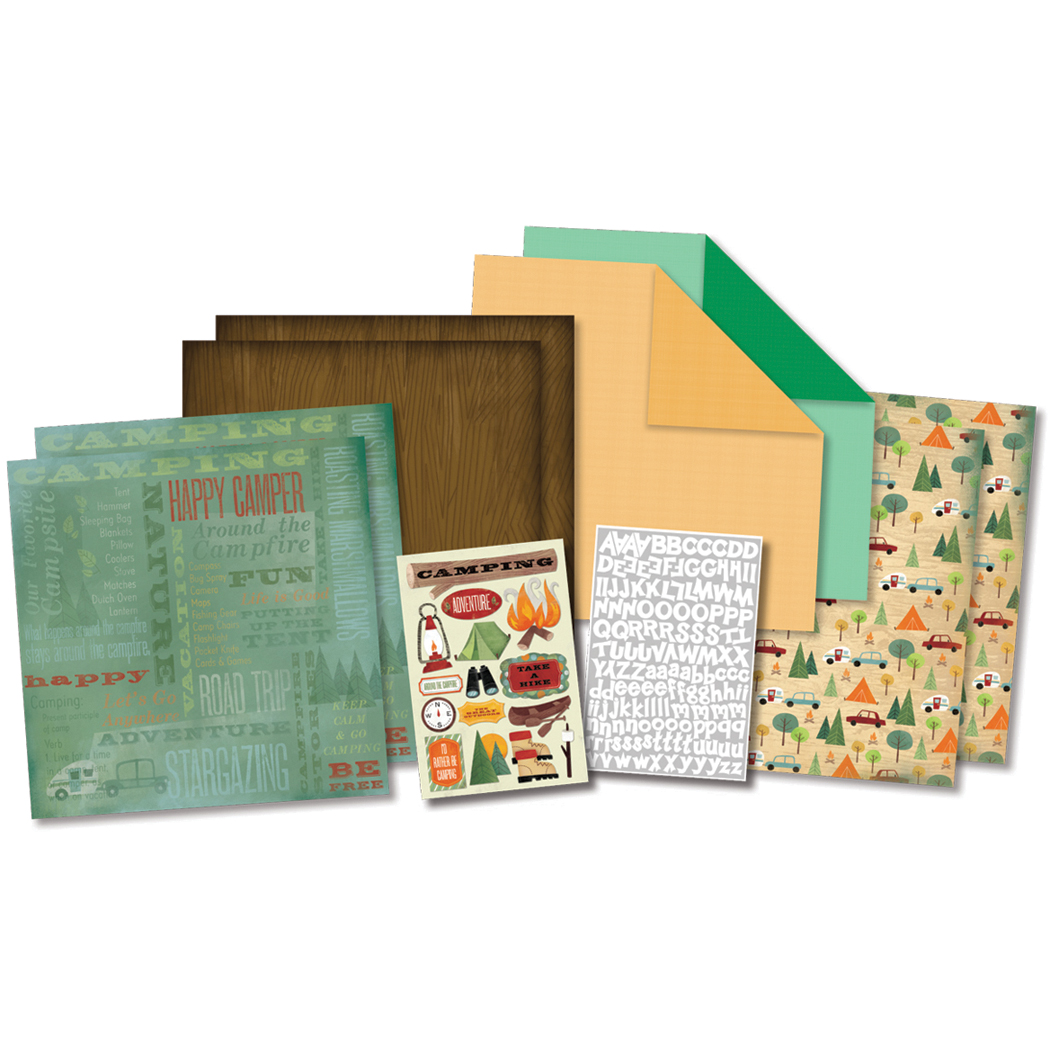 Campin Adv-scrapbook Kit 12x12