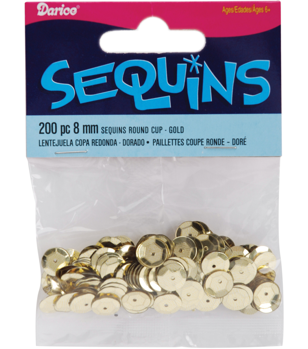 12pk Darice Cupped Sequins 8mm 200/Pkg