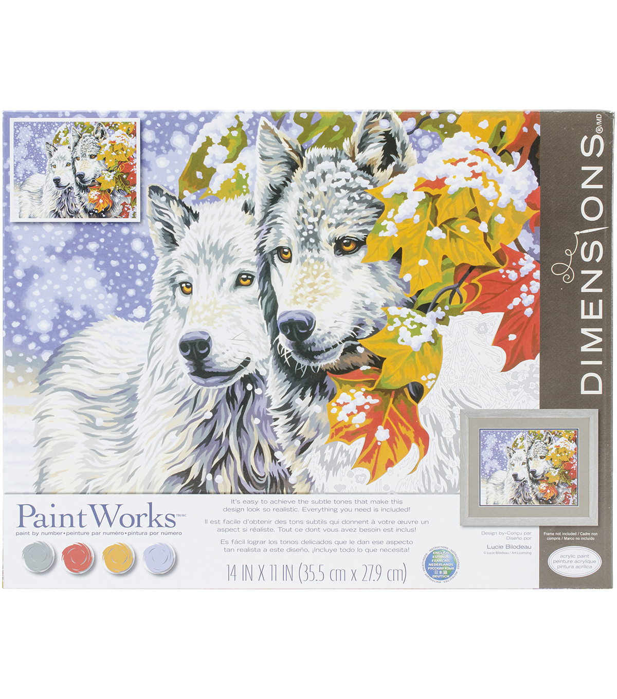 Dimensions® Paint Works Paint By Number Kit-Early Snowfall