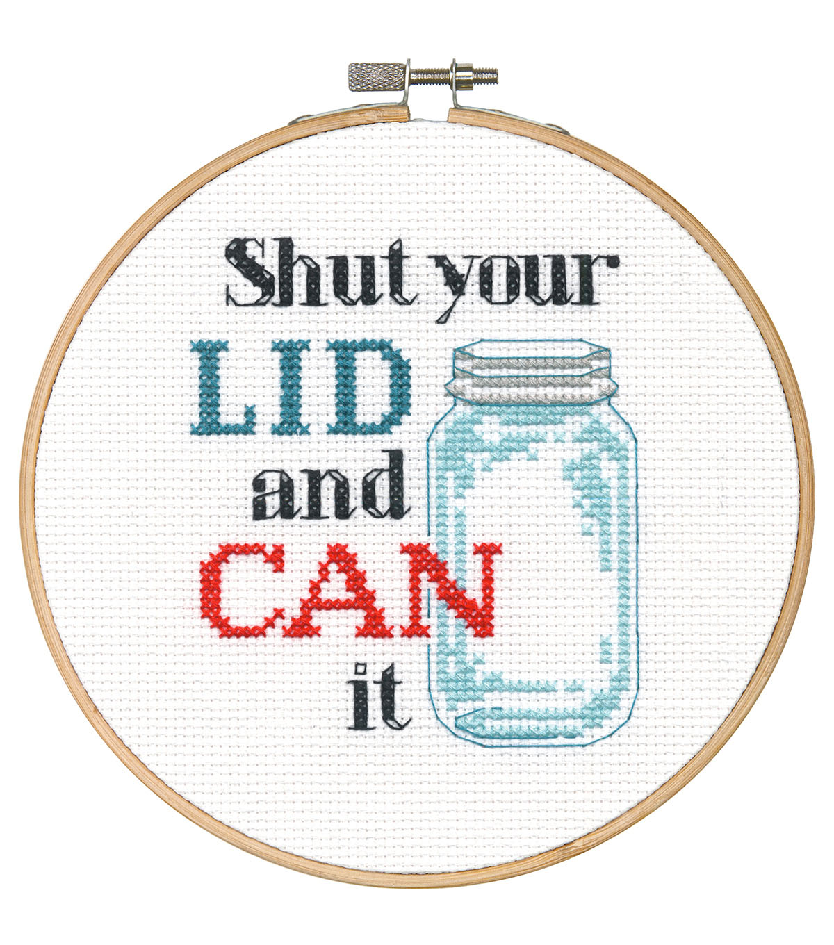 Say It! in cross stitch-Shut Your Lid