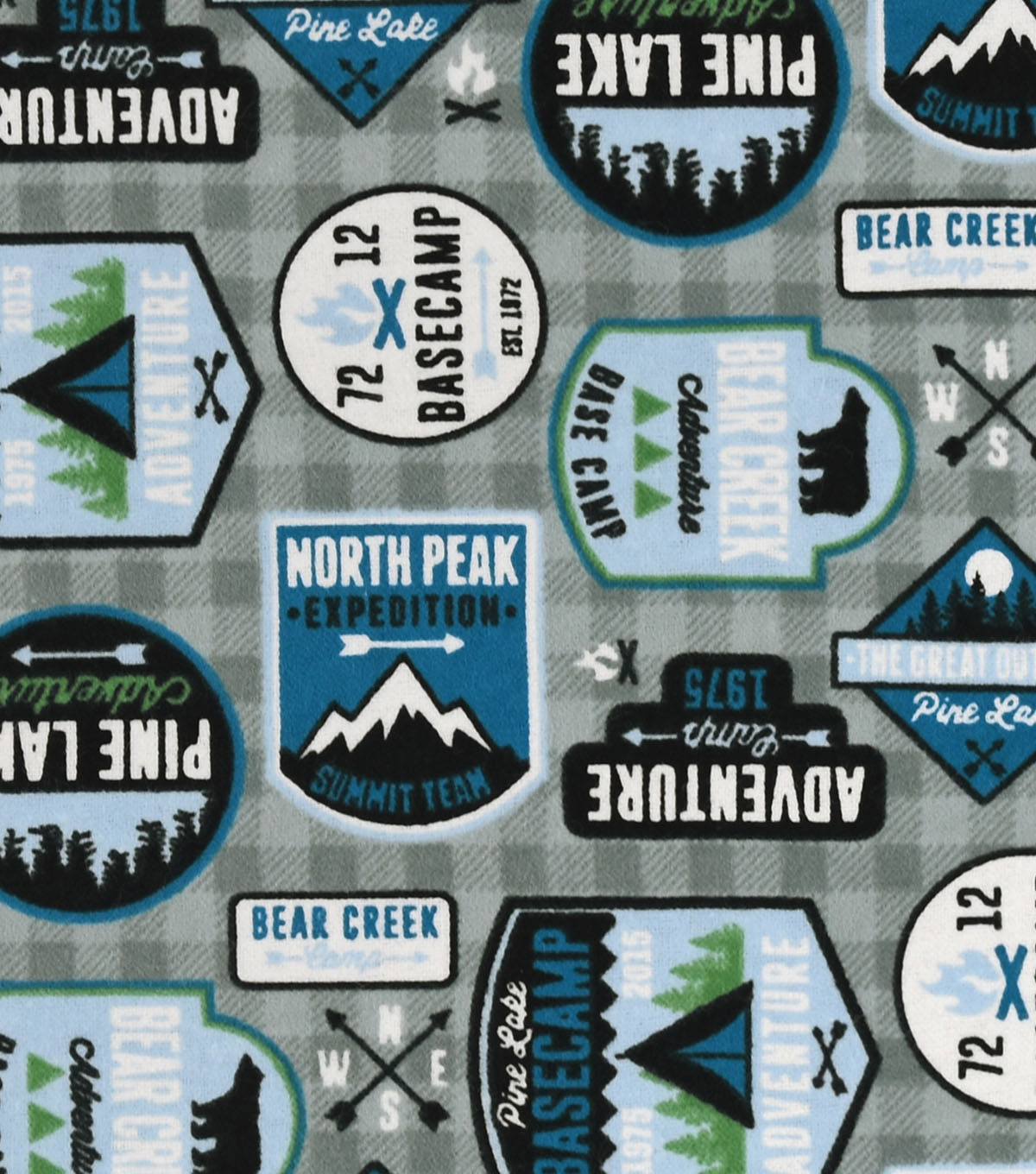 Snuggle Flannel Fabric 42\u0022-Adventure Patches
