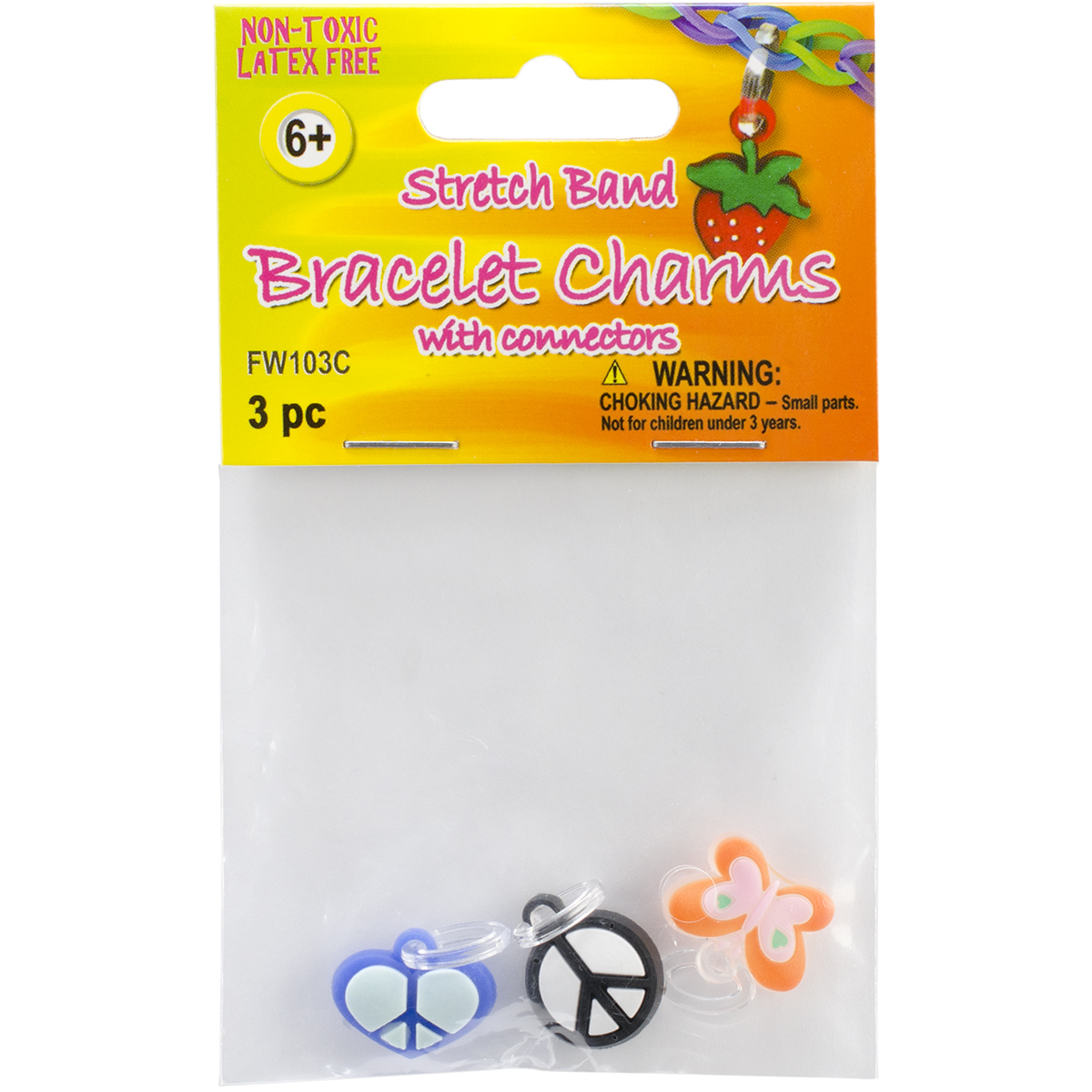 Stretch Band Charms 3/Pkg