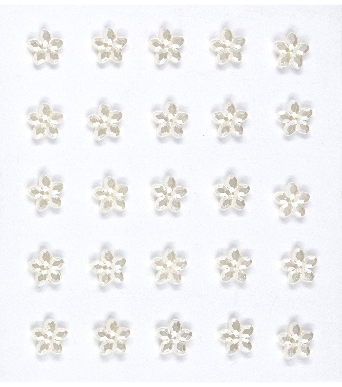 Jolee's Boutique® 25 Pack Mini Flower Gems Pearl Embellishments
