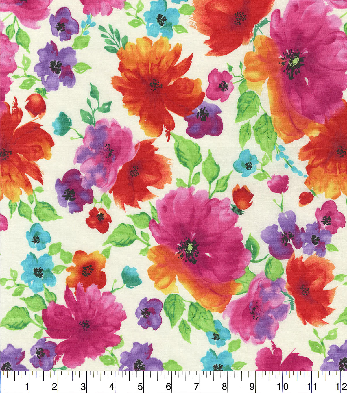 Hi Fashion Premium Quilt Fabric 44\u0022-Large Floral
