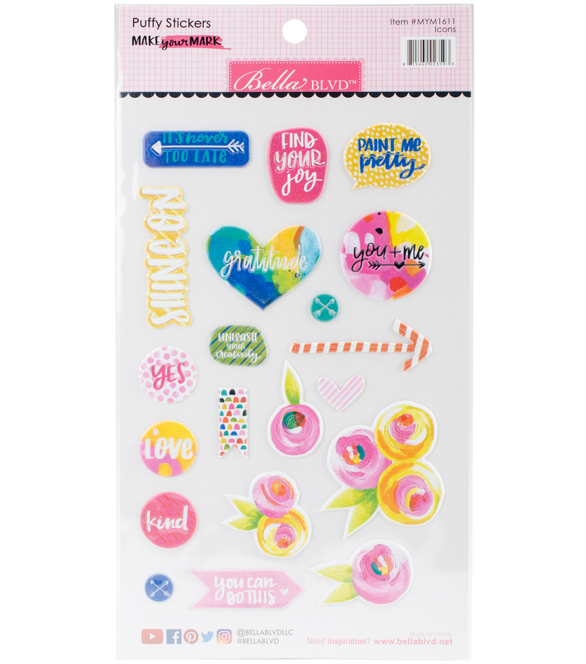 Make Your Mark Puffy Stickers-Icons