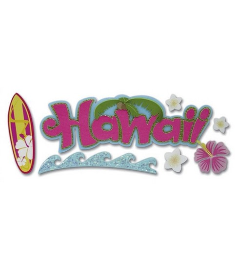Jolee\u0027s Boutique Title Wave Stickers-Hawaii