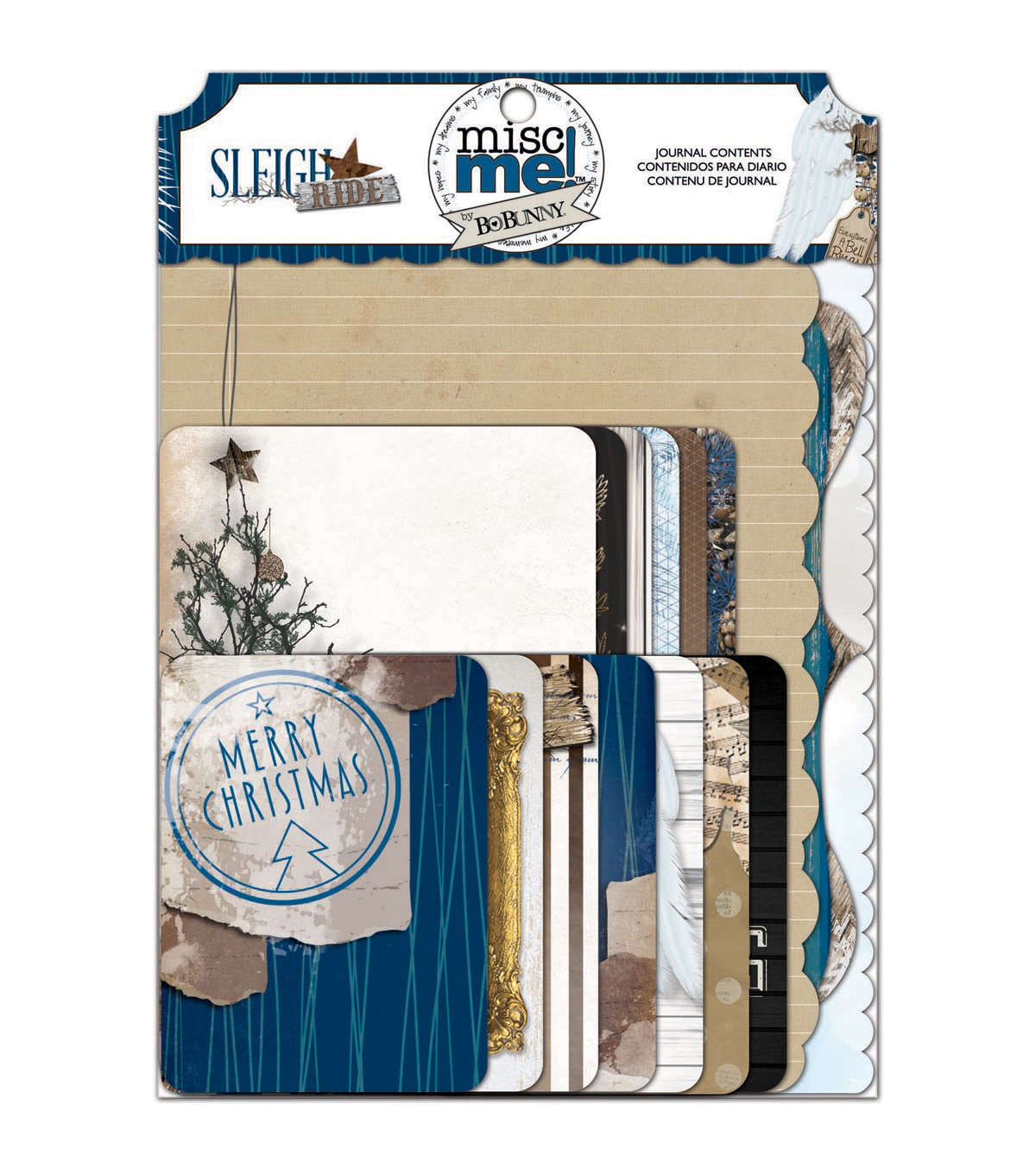 Bo Bunny Sleigh Ride Misc Me Journal Contents