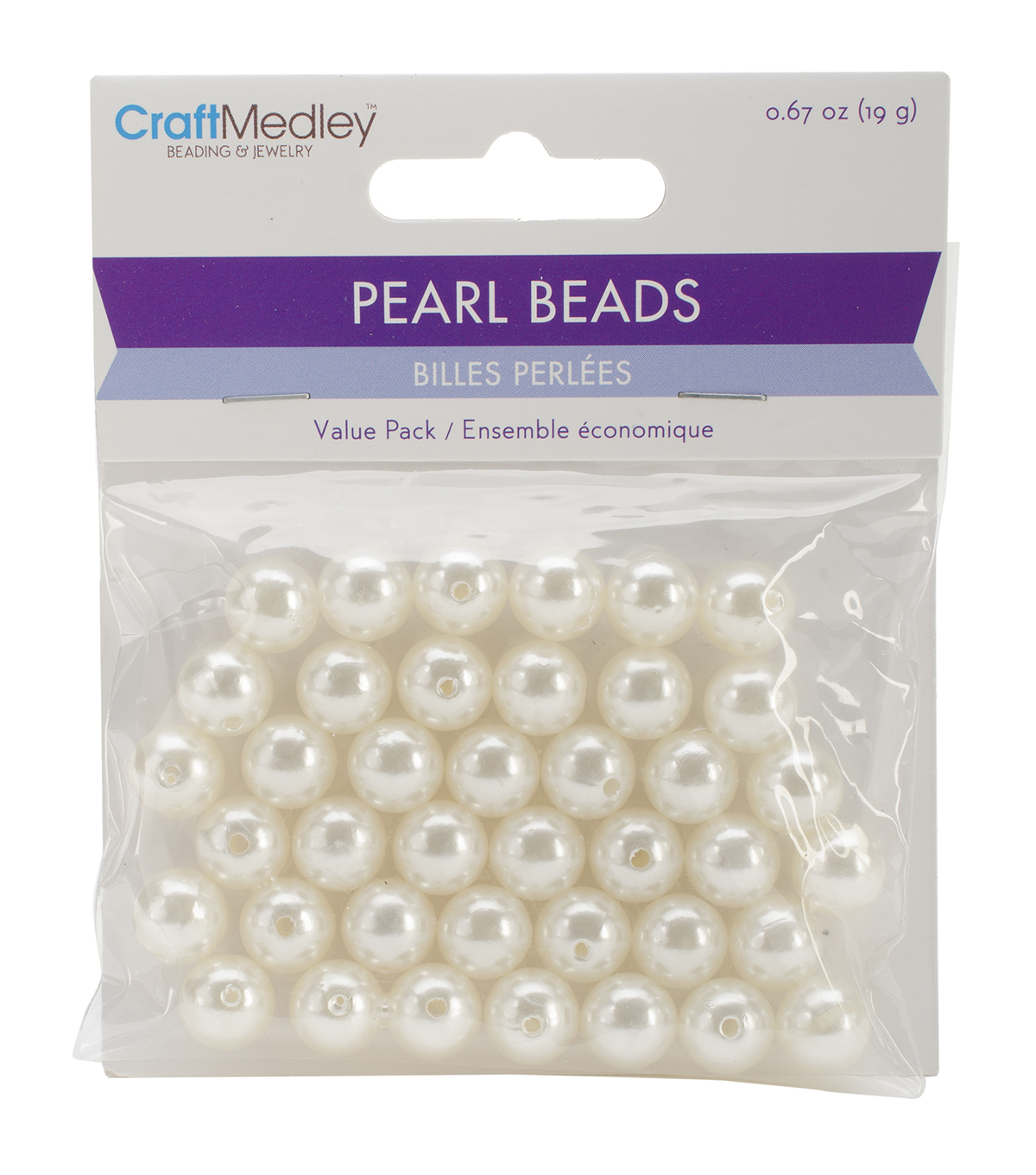 Craft Medley Pearl Beads Value Pack 10mm